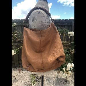 Vintage LUCKY brand leather bucket bag